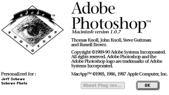 Adobe Photoshop Version 1