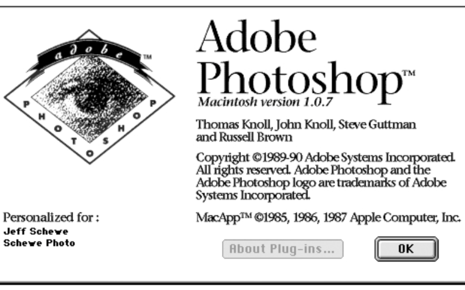 Adobe Photoshop Version 1